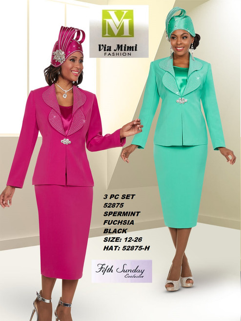 FIFTH SUNDAY #52875__ 3 PC SET  COLOR: SPERMINT, FUCHSIA, BLACK  SIZE: 12-26  HAT: 52875-H  FOR MORE IMFORMATION AND PRICE PLEASE GIVE US A CALL   WE BEAT  ALL PRICES !!!!  VIA MIMI FASHION  1333 S. SANTEE ST.  LA,CA.90015  TEL: (213)748-MIMI (6464)  FAX: (213)749-MIMI (6464)  E-Mail: mimi@viamimifashion.com  http://viamimifashion.com  https://www.facebook.com/viamimifashion    https://www.instagram.com/viamimifashion  https://twitter.com/viamimifashion