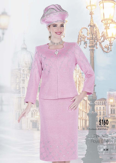 ELITE #5160_ 2 PC  KNIT SUIT  COLOR: PINK MIST, ROYAL BLUE  SIZE: 8-26  FOR MORE IMFORMATION AND PRICE PLEASE GIVE US A CALL   WE BEAT  ALL PRICES !!!!  VIA MIMI FASHION  1333 S. SANTEE ST.  LA,CA.90015  TEL: (213)748-MIMI (6464)  FAX: (213)749-MIMI (6464)  E-Mail: mimi@viamimifashion.com  http://viamimifashion.com  https://www.facebook.com/viamimifashion    https://www.instagram.com/viamimifashion  https://twitter.com/viamimifashion
