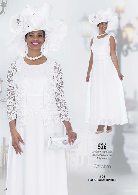 ELITE #526_ 2 PC  DRESS WITH JACKET  COLOR: OFF-WHITE  SIZE: 8-26  HAT & PURSE : HP5008   FOR MORE IMFORMATION AND PRICE PLEASE GIVE US A CALL   WE BEAT  ALL PRICES !!!!  VIA MIMI FASHION  1333 S. SANTEE ST.  LA,CA.90015  TEL: (213)748-MIMI (6464)  FAX: (213)749-MIMI (6464)  E-Mail: mimi@viamimifashion.com  http://viamimifashion.com  https://www.facebook.com/viamimifashion    https://www.instagram.com/viamimifashion  https://twitter.com/viamimifashion
