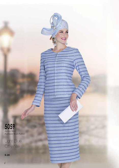 ELITE #5059_ 2 PC KNIT SET  COLOR: LIGHT BLUE , OFF WHITE   SIZE: 6-20  FOR MORE IMFORMATION AND PRICE PLEASE GIVE US A CALL   WE BEAT  ALL PRICES !!!!  VIA MIMI FASHION  1333 S. SANTEE ST.  LA,CA.90015  TEL: (213)748-MIMI (6464)  FAX: (213)749-MIMI (6464)  E-Mail: mimi@viamimifashion.com  http://viamimifashion.com  https://www.facebook.com/viamimifashion    https://www.instagram.com/viamimifashion  https://twitter.com/viamimifashion