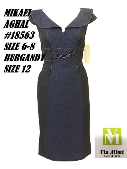 MIKAEL AGHAL #18563 NAVY SIZE 6,8 BURGANDY SIZE 12 ONLY !!!  FOR MORE IMFORMATION AND PRICE PLEASE GIVE US A CALL   WE BEAT  ALL PRICES !!!!  VIA MIMI FASHION  1333 S. SANTEE ST.  LA,CA.90015  TEL: (213)748-MIMI (6464)  FAX: (213)749-MIMI (6464)  E-Mail: mimi@viamimifashion.com  http://viamimifashion.com  https://www.facebook.com/viamimifashion    https://www.instagram.com/viamimifashion  https://twitter.com/viamimifashion