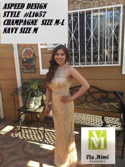 ASPEED DESIGN STYLE #L1657 SPECIAL PRICE $199.00!!!  CHAMPAGNE: M-L  NAVY:  M  FOR PRICE AND MORE IMFORMATION  PLEASE GIVE US A CALL   WE BEAT  ALL PRICES !!!!  VIA MIMI FASHION  1333 S. SANTEE ST.  LA,CA.90015  TEL: (213)748-MIMI (6464)  FAX: (213)749-MIMI (6464)  E-Mail: mimi@viamimifashion.com  http://viamimifashion.com  https://www.facebook.com/viamimifashion    https://www.instagram.com/viamimifashion  https://twitter.com/viamimifashion