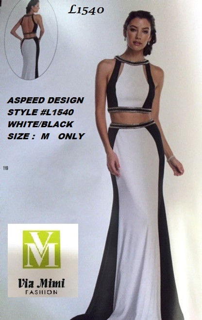 ASPEED DESIGN STYLE #L1540 WHITE/BLACK  SIZE -M-  SPECIAL PRICE $139.00!!!  FOR PRICE AND MORE IMFORMATION  PLEASE GIVE US A CALL   WE BEAT  ALL PRICES !!!!  VIA MIMI FASHION  1333 S. SANTEE ST.  LA,CA.90015  TEL: (213)748-MIMI (6464)  FAX: (213)749-MIMI (6464)  E-Mail: mimi@viamimifashion.com  http://viamimifashion.com  https://www.facebook.com/viamimifashion    https://www.instagram.com/viamimifashion  https://twitter.com/viamimifashion