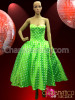 Bright Green and White Polka Dot Marilyn Monroe Party Dress