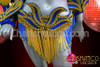 CHARISMATICO Cobalt blue and Golden Brazilian Rio Carnival samba-style costume set