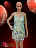 Classic Sequin halter style Latin Dance Dress in iridescent Silver