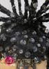 CHARISMATICO Black crystal covered twig like showgirl's cabaret headdress