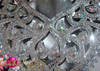 """CHARISMATICO Complete Swirled Styled Silver """"Disco Ball"""" Mirror and Crystal Costume Set"""