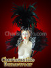 Black Cabaret Feather Showgirl Headdress and organza Backpack