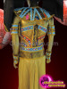 CHARISMATICO Complete Crystal Accented Colorful Golden Pharaoh Male Egyptian Costume Set