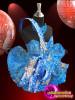CHARISMATICO Asymmetrical Diva's Sky Blue Ruffled Crystal Accented Fluffy Dolly Mini-Dress