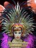 GOLD Drag Queen Tranvestite CABARET FEATHER HEADDRESS HEAD GEAR