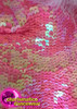 CHARISMATICO Shimmering Pink Sequin Leotard With Pink Dipped Ostrich Plume Hip