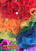 CHARISMATICO Rainbow Shimmering Organza Ruffle Gay Pride Drag Queen Showtime Coat