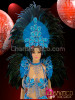 CHARISMATICO Complete Coordinated Sky Blue Sequin And Feather Brazilian Carnival Set