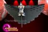 CHARISMATICO Black Sheer Bikini with Silver Bows, Embellishments and Black Cape