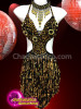CHARISMATICO Complete party rocking dress in black and gold shade