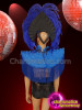 CHARISMATICO Blue fringed silver sequinned feathered fringed diva costume set