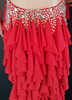 CHARISMATICO Backless floor length red dress with silver studded details
