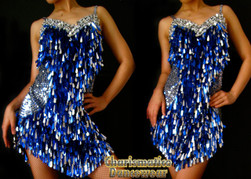 Royal Blue Sequin Dress