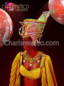 CHARISMATICO Classic Golden Orange Accented Egyptian Nobility Diva Drag Queen Headdress
