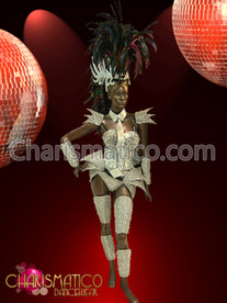 CHARISMATICO Spiky mirrored futuristic warrior Diva Drag QUEEN armor set
