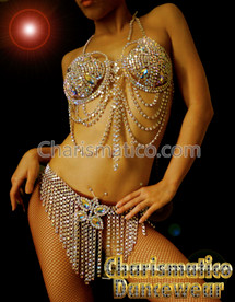Crystal BURLESQUE Show Girl Bra Thong