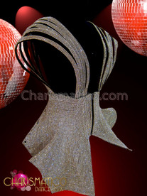 CHARISMATICO Iridescent Rhinestone covered crystal Dollie strapped top formed over dress