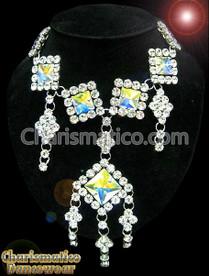 Square Crystal Drag queen Swarovski Necklace