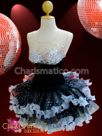 CHARISMATICO Corset illusion black leotard and quick change matching tutu skirt