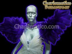 PURPLE Drag Queen BRAZIL CABARET Feather SHOULDER COLLAR