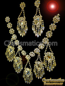 Royal Divine Divas QUEEN Pageant Jewelry Necklace and Earrings