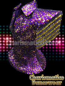 Purple LADY GAGA Sequin DRAG QUEEN DIVA JACKET