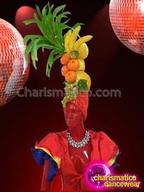 CHARISMATICO Classically Detailed Carmen Miranda Inspired Tropical Fruit Diva Showgirl Headdress