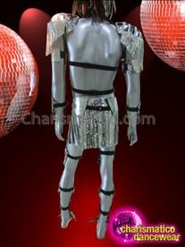 Charismatico futuristic triple horn padded shiny metallic - Diva big man ...