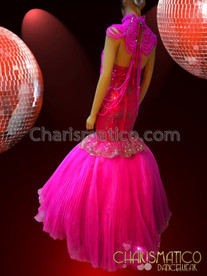 CHARISMATICO Beautiful Elegant Pink Princess Gown And Charismatic Necklace