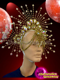 CHARISMATICO Astounding Glorious Glamorous Exquisite Unique Impressive Gold Headdress