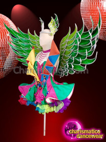 CHARISMATICO Gorgeous glitter queen's dance ultimate costume in multiple color