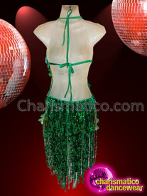 CHARISMATICO gorgeous green knee length ultimate show stopper diva's sexy skirt