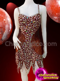 CHARISMATICO Shimmering Brown gorgeous diva sequin dress
