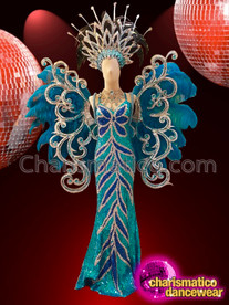 CHARISMATICO Blue Breathtaking Fantastic Ravishing Enchanting Diva Sequin Costume Set