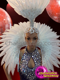 CHARISMATICO Drag queen show girl sequinned and feathered costume set