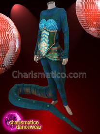 CHARISMATICO Crystallised fancy anaconda sequinned costume set