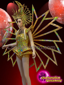 CHARISMATICO Gold show time diva Madonna super bowl costume set
