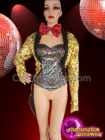 CHARISMATICO Columbia ladies rocky horror show adults' fancy sequinned dress