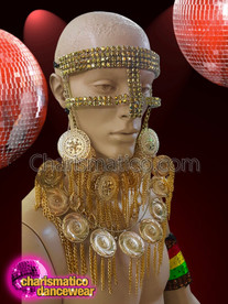 CHARISMATICO Two layered detailed golden mask with chakra motif