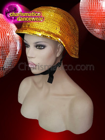 CHARISMATICO  absolute night club Disco ball gold mirror helmet