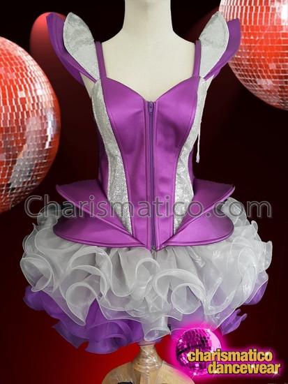 CHARISMATICO Attractive Beauteous Astounding Lovely Purple Diva Corset Tutu