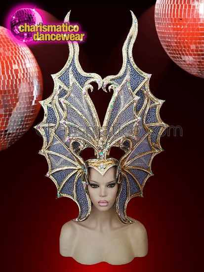 CHARISMATICO  Majestic Cabaret Queen silver headdress with the work of sequin