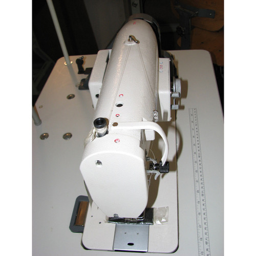 "199RB-1A-1 Single Needle Drop feed lockstitch Zig Zag, Sewing machine with ""M"" bobbin (Setup complete with table, motor & stand)"